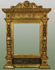finished frame water gilded sgrafitto finish